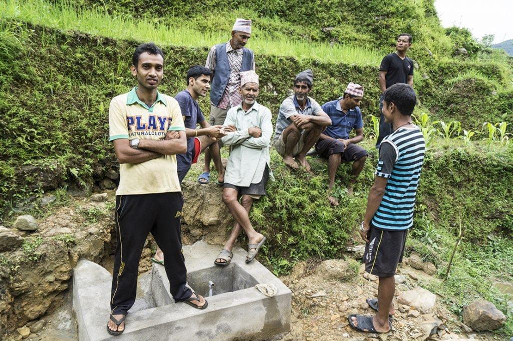 Wiederherstellung der Wasserversorgung in Phujel