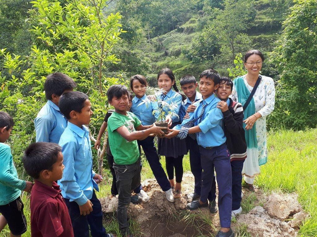 Baumpflanz-Aktion zum World Environment Day