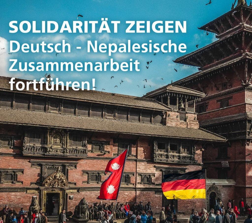 Solidarität zeigen- Entwicklungszusammenarbeit mit Nepal fortsetzen