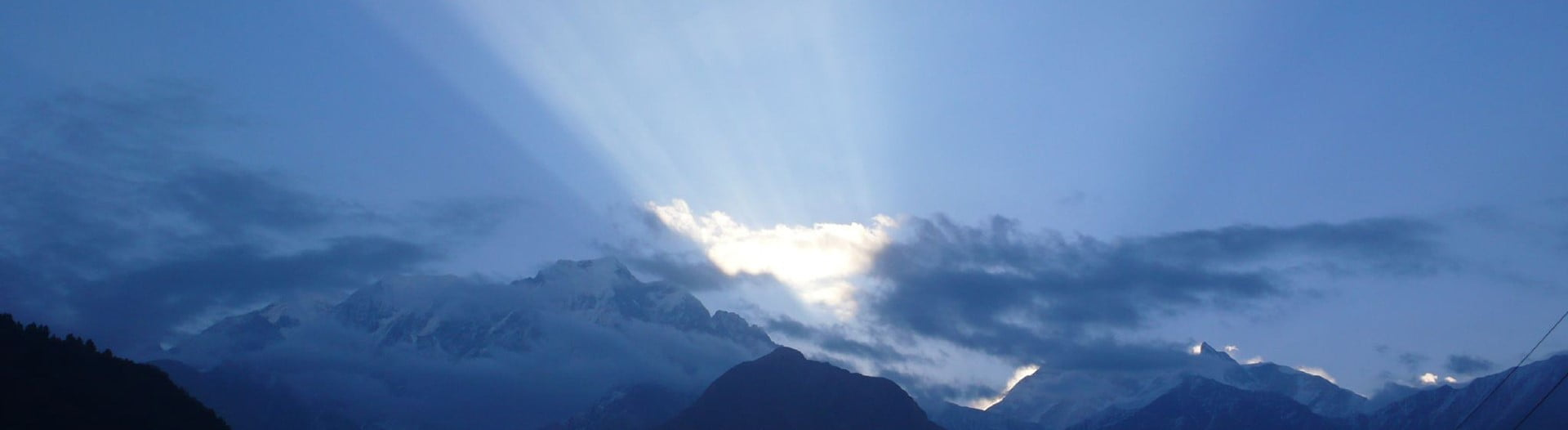 Mountains in the Himalaya