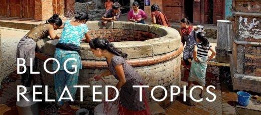 Waterquelle Frauen holen Wasser in Nepal