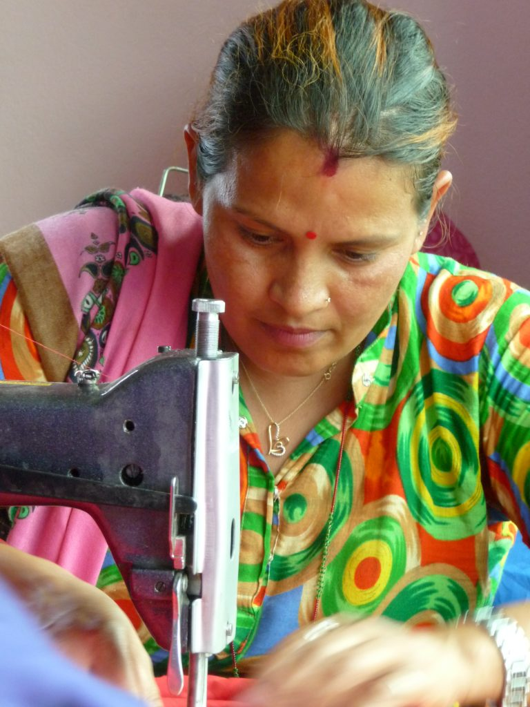 Woman seamstress in Nepal