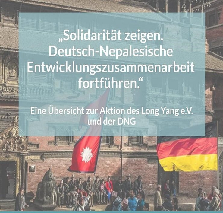 "Overview of the campaign ""Showing solidarity"" German-Nepalese Development Cooperation continue"