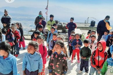 Long Yang - Winter clothing for students in Nepal