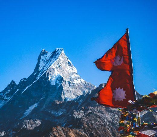 Nepal Himalaya Flag